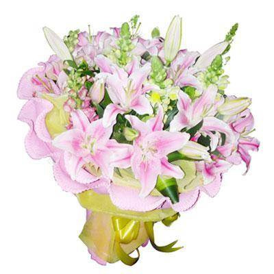 Big bouquet of 15 lily stems (ID: HV-M-4009)