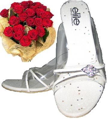Gifts to Vietnam. Hochiminh city only - Flowers bouquet and Fashion shoes (ID: HV-NH-V-9060)