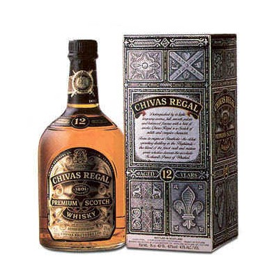 Chivas Regal 25 Fl.oz (700 ml). Made in France (ID: HV-NH-W-841)