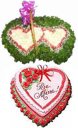 100 roses & cream cake HV-NH-L-332(ID: HV-NH-L-332)