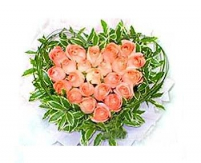 HV-NH-L-378: 24 hoa hồng hình trái tim (ID: HV-NH-L-378: 24 roses (color of your choice) in heart shape)
