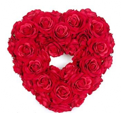 HV-NH-L-390 - Large heart shape of roses (color of your choice) (ID: HV-NH-L-390)
