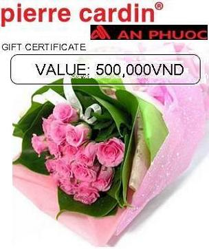 Gifts to Vietnam. Hochiminh city only - Flowers bouquet and Fashion clothing (ID: HV-NH-V-9062)