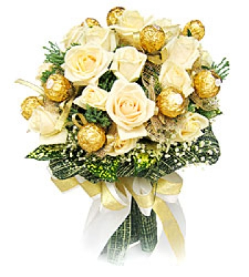 HV-NH-L-361 Bouquet 12 roses, 12 chocolate (ID: HV-NH-L-361)