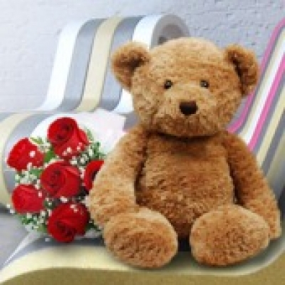 Brown Teddy Bear (ID: TH-BRW-TED-BEAR-2)