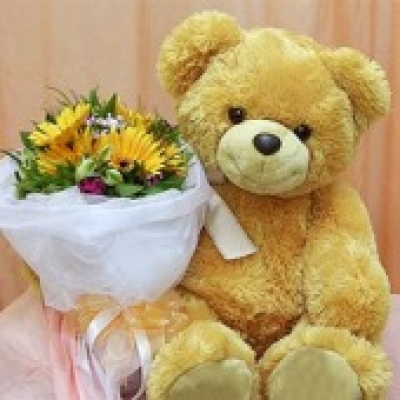 Orange Teddy Bear (ID: TH-TB-YELLOW)
